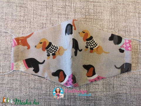 Textil maszk tacskós (EveDesign2) - Meska.hu
