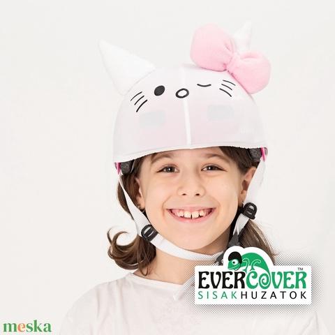Hello Kitty, cicás sisakhuzat gyerekeknek, XS-M bukósisakokra tervezve (Evercover) - Meska.hu