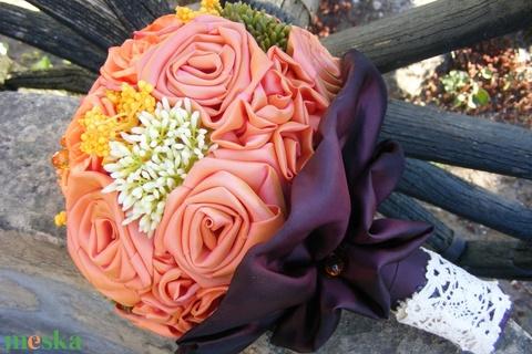 Narancs Kerek Csokor esküvőre,ballagásra (eviara) - Meska.hu