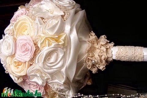 Pastel Rose menyasszonyi csokor,tartós virágokból - Meska.hu