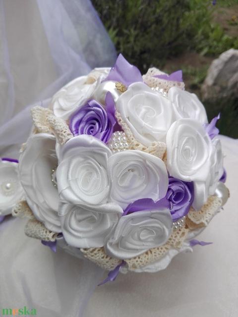 Bieder Lavender Menyasszonyi csokor (eviara) - Meska.hu