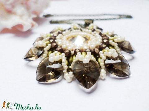 Zöld szívecskék - ékszer - nyaklánc - medálos nyaklánc - Meska.hu