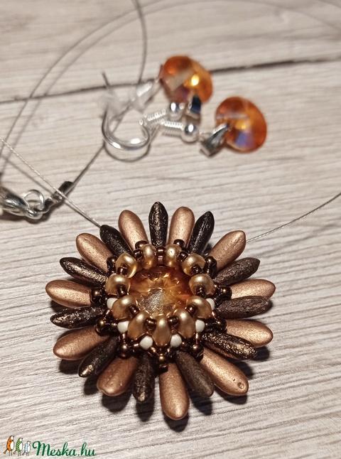Bronz mini virág fülbevalóval (Evii) - Meska.hu