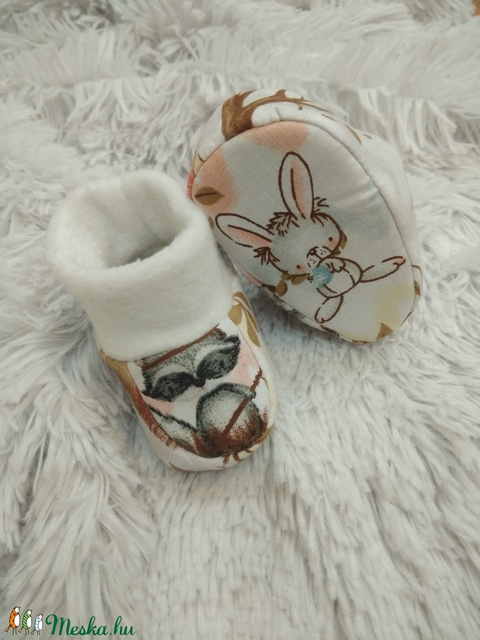 Baba cipő / mamusz - erdei állatos - Meska.hu