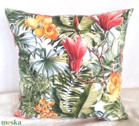 Hawaii mintás díszpárna, Pálmás trópusi  díszpárna, pálmaleveles trópusi díszpárna, dzsungeles díszpárna (EVYHomeDecor) - Meska.hu
