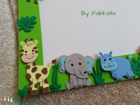 Szafari stílúsú dekorgumi képtartó képkeret állatkert  (fabkata) - Meska.hu