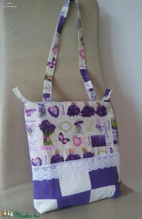 Levendulás patchwork táska - Meska.hu