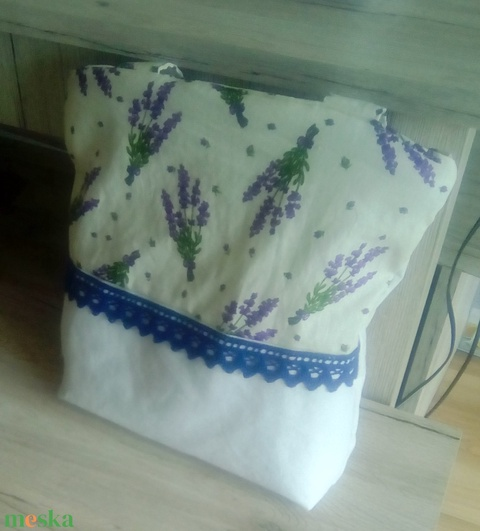 Levendulás fehér táska - Meska.hu