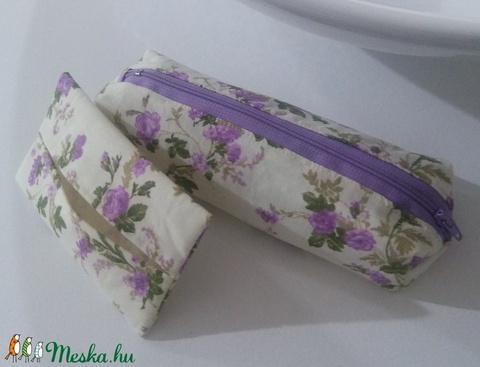 Lila virágos tolltartó szett (FairyTreasure) - Meska.hu