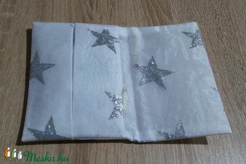 Ezüst csillag mintás zsebkendő, tampon, betéttartó - Meska.hu
