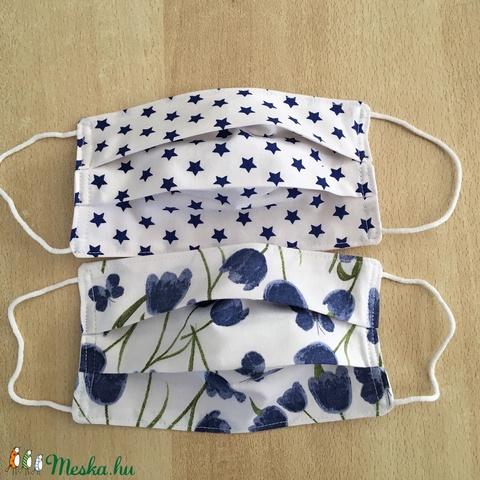 2 db női tulipános, csillagos textil, mosható maszk, arcmaszk, szájmaszk - szett (FancyDecor) - Meska.hu