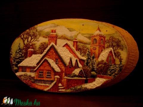 Téli falu faszeletre... (fantasy66) - Meska.hu