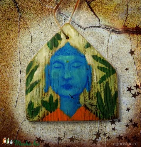 Buddha rusztikus fára festve (FANYUVASZTO) - Meska.hu