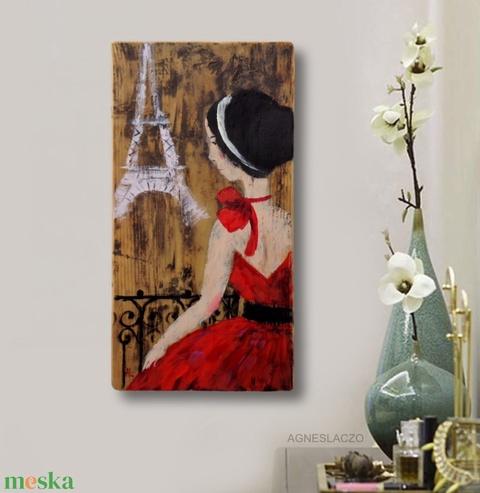 Valentin nap Párizsban - művészet - festmény - akril - Meska.hu