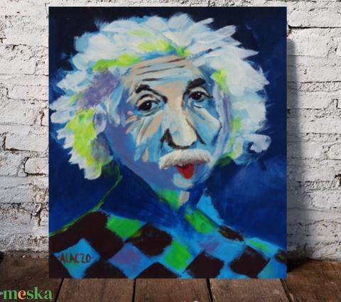 Einstein - művészet - festmény - akril - Meska.hu
