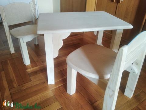 Fából készült gyerek asztal/szék (faunart) - Meska.hu