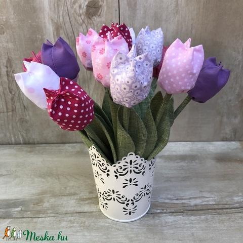Textil tulipán / szett: 12 db/ ingyen ajándékcímkével (FDesignbyFruzsina) - Meska.hu