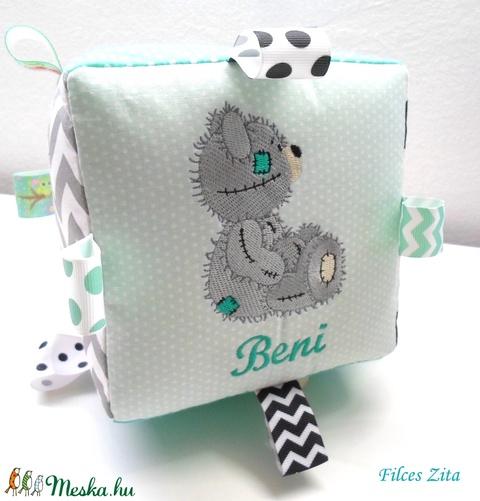 XXL Teddy macis babakocka hímzett névvel  (FilcesZita) - Meska.hu