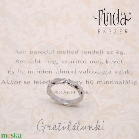 Mandala nemesacél gyűrű fehér zafírral - Meska.hu