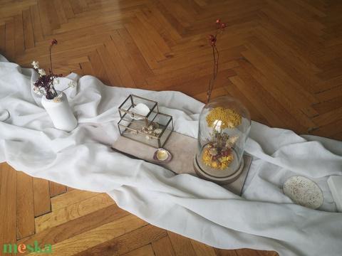 Kis szárazvirág kompozíció üvegbúra alatt (Fleurissimo) - Meska.hu