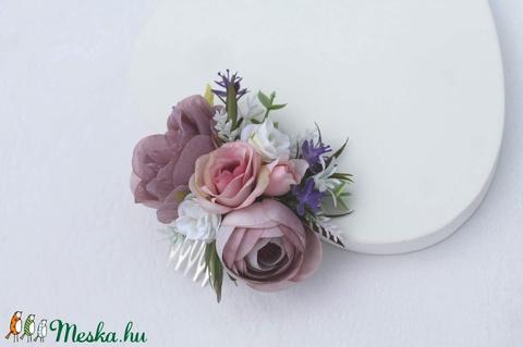 Pasztel lila hajdísz  (FlorallyArt) - Meska.hu