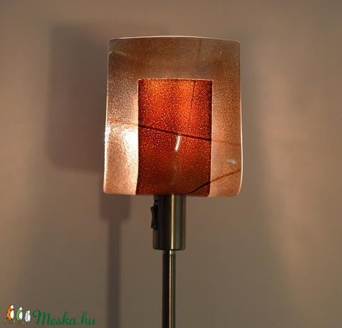 Barna lámpa (fodorglass) - Meska.hu