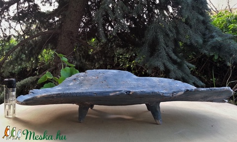 Nagy, acélszürke, mázatlan, kurama bonsai tál (Foenx) - Meska.hu