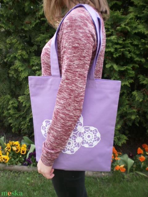 Lady Lavender...Csipkés lila szatyor  (Foltonfolt) - Meska.hu