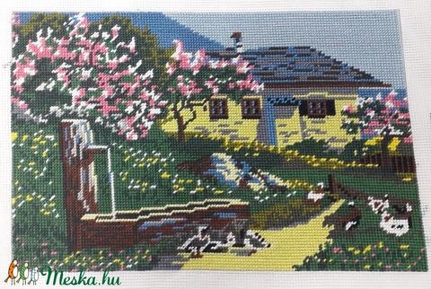 Sárga ház gobelin kép (GabocaKelengye) - Meska.hu