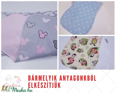 Büfikendő pink flottir-pillangó mintás pamut - Meska.hu