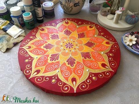 Napvirág mandala (30 cm) - Meska.hu