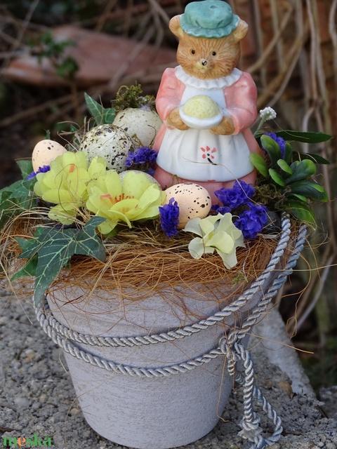 Húsvéti kalács- -macival asztaldísz,lakásdekoráció - Meska.hu