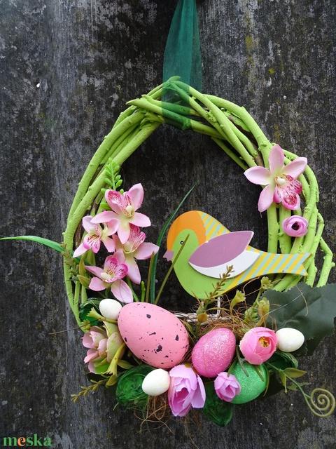Cinege cipője Madárka húsvéti,tavaszi ajtódísz,koszorú,kopogtató - Meska.hu