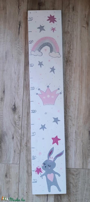 Nyuszi lány - magasságmérő kicsiknek, nagyoknak, kislányszoba dekoráció (garievi) - Meska.hu