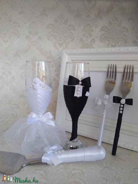Rózsás szett esküvőre (gervera) - Meska.hu