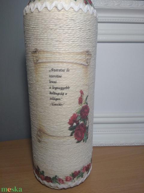 Zsinórozott boros szett nem csak esküvőre (gervera) - Meska.hu