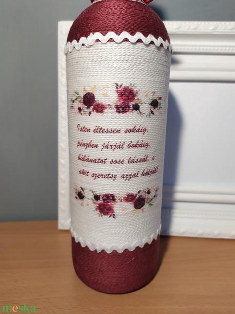 Zsinórozott boros szett jeles alkalmakra (gervera) - Meska.hu