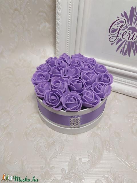 Mini virágbox lila (gervera) - Meska.hu