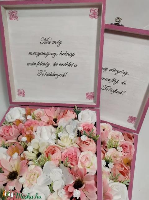 Szülőköszöntő virágos doboz édesanyáknak (gervera) - Meska.hu