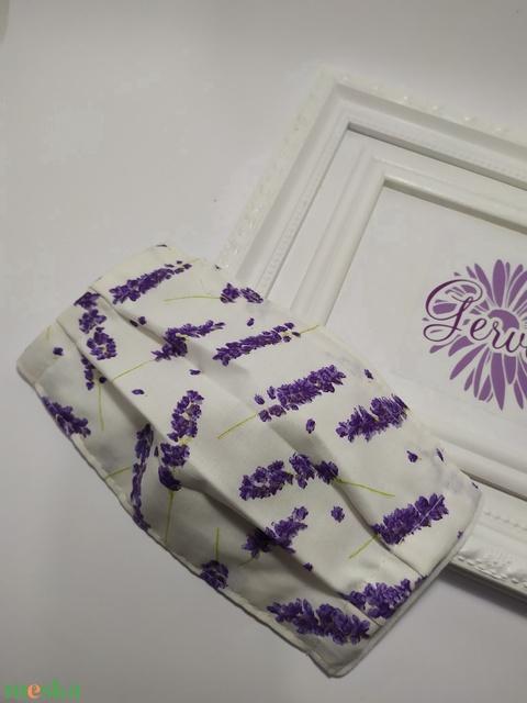 Kétrétegű textilmaszk, levendula mintás - Meska.hu