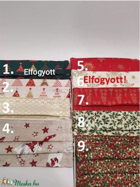 5db karácsonyi textil maszk választható mintával  (gervera) - Meska.hu