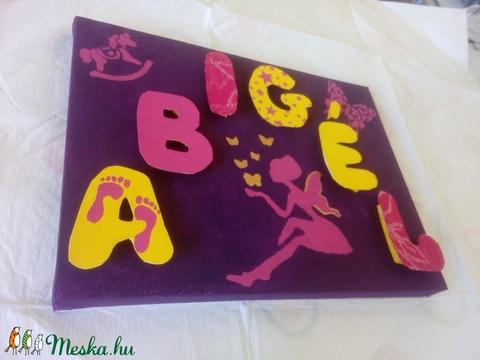 Egyedi felirat, babanév, bababetű, babaszoba dekoráció - ABIGÉL (Ginseng) - Meska.hu