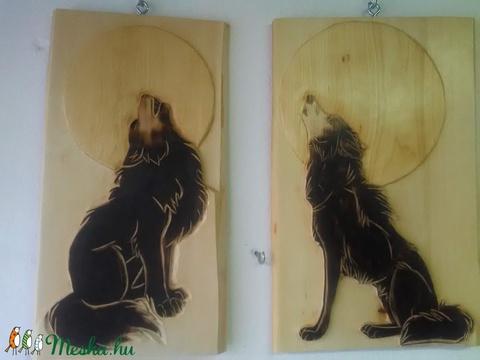 Farkasok  faragás  (Goncolszeker) - Meska.hu