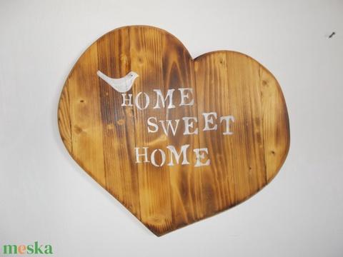 Szív égetett fa Sweet Home - Meska.hu