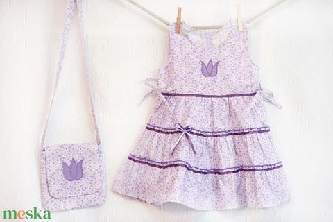 Lila-vajszínű 62-104 apró virágos nyári ruha   (gyetomi) - Meska.hu