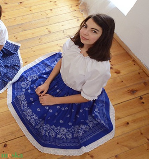 Blúz ÁLLÍTHATÓ nyak- és ujjbőséggel, 134-XXL-es, fehér (gyetomi) - Meska.hu