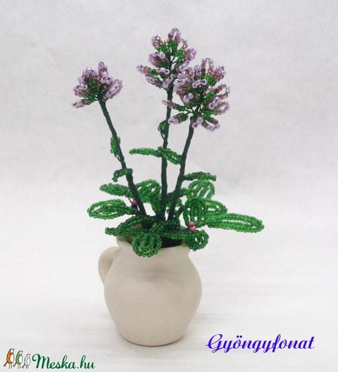 Levendula gyöngyből, cserepes virág  (gyongyfonat) - Meska.hu