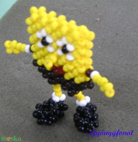 Spongebob gyöngyből, kabalafigura (gyongyfonat) - Meska.hu
