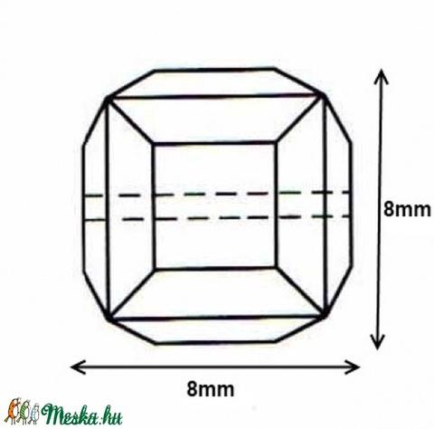 Ékszerkellék: Swarovski kocka 8mm-es AB bevonatos  több színben - Meska.hu