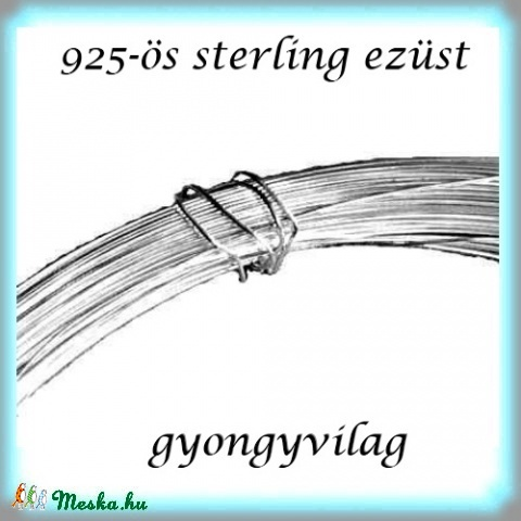 925-ös ezüst huzal EH 0,6mm-es 50cm (gyongyvilag) - Meska.hu